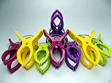 Towel Pegs 8 pcs. Durable Towel Clips for Sunbeds in Bright Colours Hold in Place your Large Beach Towels in the Summer or your Heavy Laundry. (Multi)