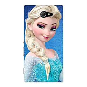Cute Winked Princess Freez Multicolor Back Case Cover for Sony Xperia M2