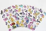 50 feuilles/lot Mon Petit Cheval poney Stickers pour enfants PVC Stickers floconneux 3D Feuilles Buirthday jouets de dons pour les enfants de faveurs de partie...