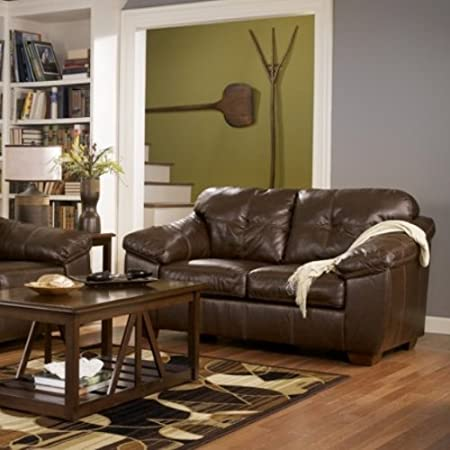 LUCASBrownRust ic LOVESEAT BY Ashley Furniture