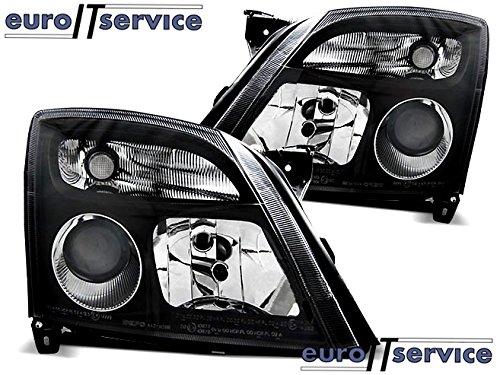 TOP SET HEADLIGHTS LAMPS LPOP87 OPEL VECTRA C 04.2002-08.2005 BLACK (Opel Vectra C compare prices)