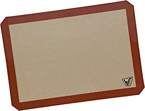 """Silicone Baking Mat - Half Sheet (Thick & Large 11 5/8"""" x 16 1/2"""") - Non Stick Silicon Liner for Bake Pans & Rolling - Macaron/Pastry/Cookie/Bun/Bread Making - Top Quality - Heat Resistant & Nonstick"""
