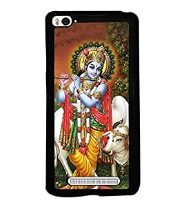 Lord Krishna 2D Hard Polycarbonate Designer Back Case Cover for Xiaomi Mi 4i :: Xiaomi Redmi Mi 4i