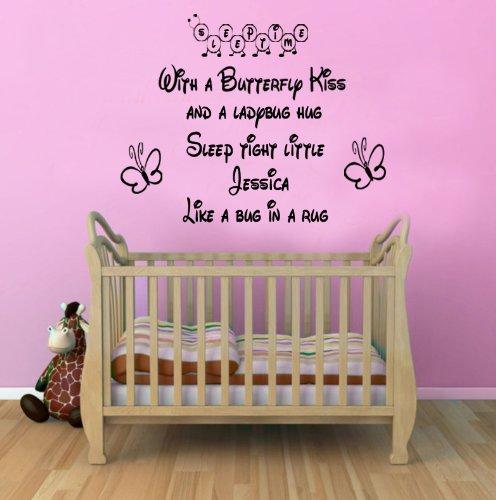 Personalised Sleep Tight Nursery Bedroom Wall Sticker Quote Children Vinyl T1 100X55 Ck front-535911