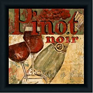 pinot noir modern dining room decor art print framed