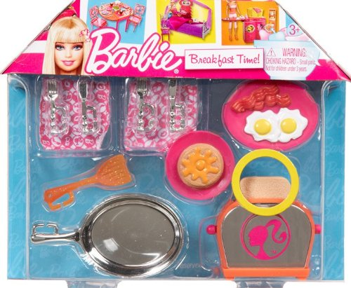 Mattel Barbie Breakfast Time Cooking Doll Accessories imagination play