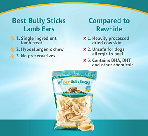premium lamb ear dog treats by best bully sticks 1 5 pound value pack animals pet supplies pet. Black Bedroom Furniture Sets. Home Design Ideas