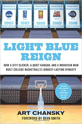 Light Blue Reign: How a City Slicker, a Quiet Kansan, and a Mountain Man Built College Basketball's Longest-Lasting Dynasty written by Art Chansky