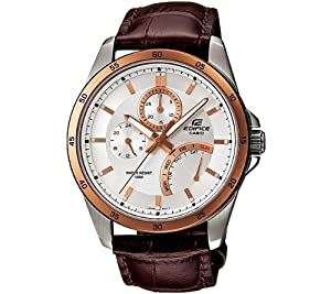 Casio Edifice Rose Two Tones Stainless Steel Quartz Date Retrograde Day Ef-341l-7avdf