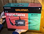 LARGE BOX SONY WM-FX407 Walkman Radio Cassette TAPE Player DIGITAL AM/FM AUTOREVERSE METAL CHROME Dual Capstan