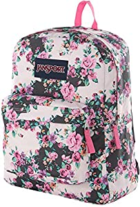 JanSport Classic SuperBreak Backpack - Multi Grey Floral Flouris
