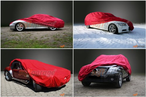 softgarage rot MERCEDES-BENZ 123 (W123) lang Faltgarage Carcover