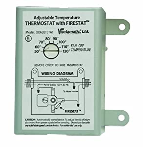 ventamatic xxfirestat 10-amp adjustable thermostat with ... advent 135 4 wire thermostat wiring