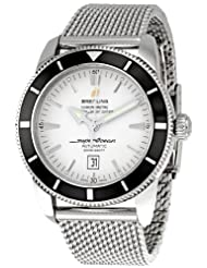 Breitling Men's A1732024/G642SS SuperOcean Heritage Silver Dial Watch