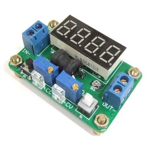 Kimdrox Dc Step Down Converter 4.5-24V To 1-20V 2A Rrgulator Constant Voltage Current With Volt Ampere Meter Red Led