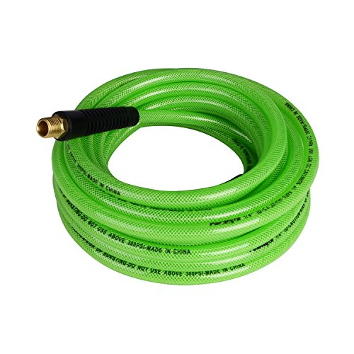 PowRyte 500005 Elite 300 PSI Reinforced Polyurethane (PU) Air Hose - 1/4-Inch by 25-Feet, 1/4-Inch MNPT Swivel Brass Ends (3 4 Compressed Air Hose compare prices)