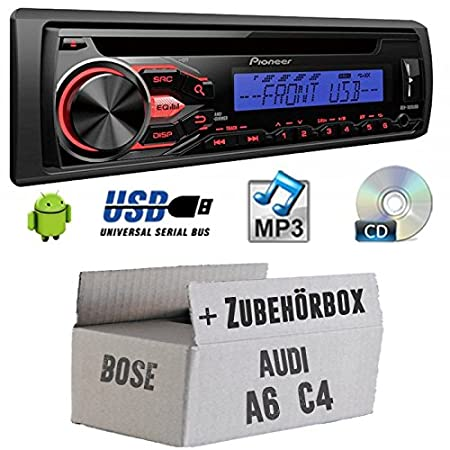 Audi A6 C4 Bose - Pioneer deh1800ubb - Kit de montage autoradio CD/MP3/USB -