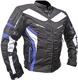 #6: Streetfun Textil Motorrad Jacke Motorradjacke Schwarz Blau Gr. L