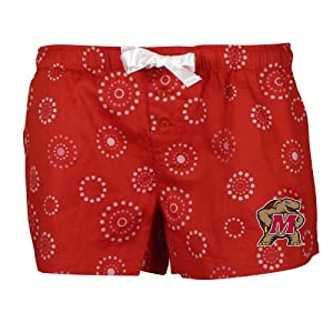 NCAA Maryland Terrapins Ladies Medallion Short, Red by Concepts Sport