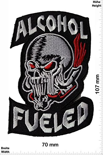Patch - Alcohol fueled - Biker - Rocker - Chopper - Chaleco - toppa - applicazione - Ricamato termo-adesivo - Give Away