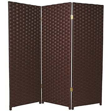 Discount rattan style extra large room divider partition for Cheap privacy screens