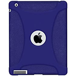 Amzer 95715 Silicone Skin Jelly Case - Blue for Apple iPad 4 with Retina Display, Apple iPad 4