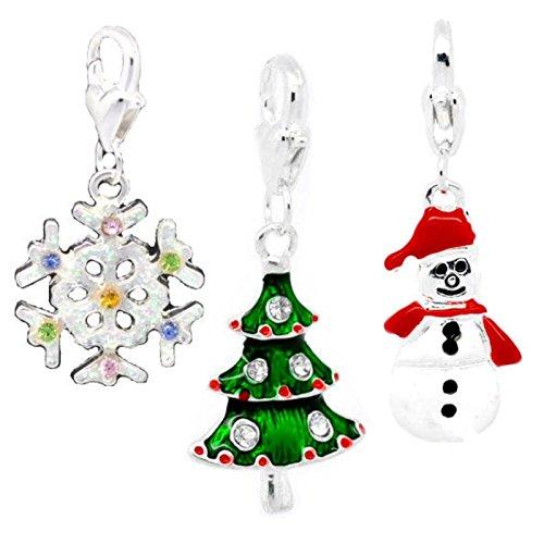Christmas Set of 3 Clip On Charms For Thomas