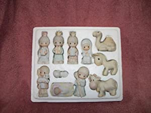 Precious Moments Set of 11 Mini Nativity Figurines