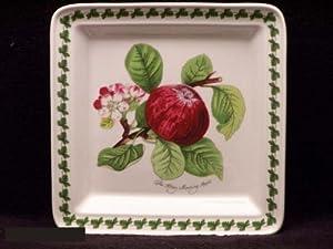 Portmeirion Pomona Salad Plate Square-Hoary Morning Apple
