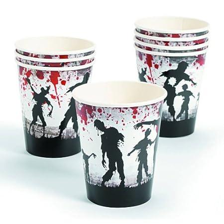 8 Zombie Party Paper Cups, 9 oz.