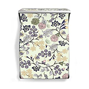 Burg Wächter Swing Silver Mailbox Letterbox with Floral Wallpaper by banjado