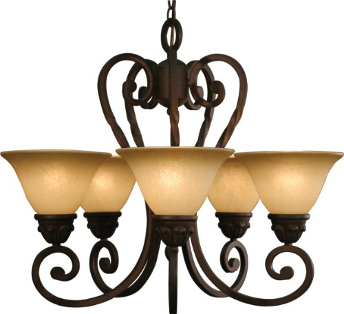 B001ARAX0Y Volume Lighting Isabela 5-light Italian dusk chandelier
