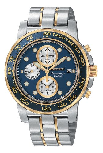 Seiko Men'S Snaa64 Alarm Chronograph Two-Tone Watch