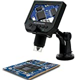 Digital Portable Microscope Mustool G600 1-600X 3.6MP Continuous Magnifier with 4.3inch HD LCD Display
