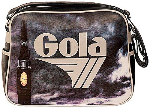 Gola Redford Big Ben CUB272, Borsa a Tracolla Unisex (BLACK / SILVER)