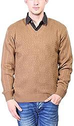 Priknit Men's Blended Sweater (SH-800-44 BEIGE, Beige, 44)
