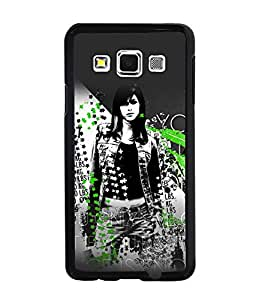 PrintDhaba Trendy Girl Back Case Cover for SAMSUNG GALAXY A3 - D4091