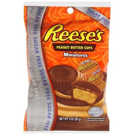 Reese's: Sugar Free Peanut Butter Miniatures Chocolate Cups, 3 Oz