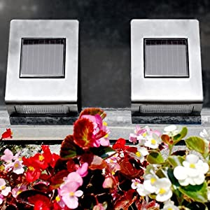 Super Bright Long Life Stainless Steel Wall Mounted Solar Path Light - 4 PCS