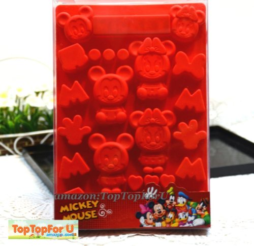 Disney Mickey Minnie Mouse Silicone Ice Mould Chocolate Candy Muffin Pan Cup Mold
