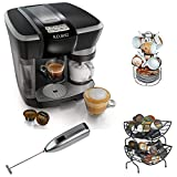 Keurig Rivo 500 Cappuccino & Latte System w/ Nifty 6650 Single Serve Coffee Baskets, Knox Handheld Milk Frother, and Café Moulu 13-Pc Espresso Set