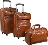 AmeriLeather Leather 3 pc. Set Traveler by NYC Leather Factory Outlet