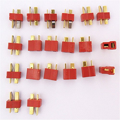 Allytech(TM) 10 Pair T Plug Connectors Deans Style Male and Female Connectors For RC LiPo Battery (20-Pack)