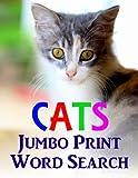 Cats Jumbo Print Word Search (Jumbo Print Puzzle Books)