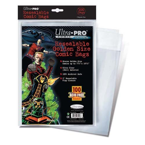 Ultra Pro Resealable Golden Size Comic Bags