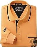 (ベルーナ)BELLUNA お洒落仕様! ブランド長袖デザインポロシャツ 423612  杢オレンジ M