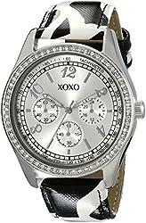 XOXO Women's XO3170 Silver Dial Black and White Giraffe Strap Watch