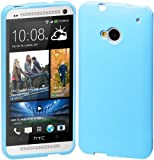 Cimo Grip Back Case Flexible TPU Cover for HTC One (M7) - Blue