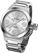 TW Steel Canteen Silver Dial Stainless Steel Mens Watch TW304