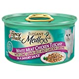 Fancy Feast Wet Cat Food, Elegant Medleys, White Meat Chicken Tuscany in a Savory Sauce with Long Grain Rice and Garden Greens, 3-Ounce Can, Pack of 24 ~ Purina Fancy Feast